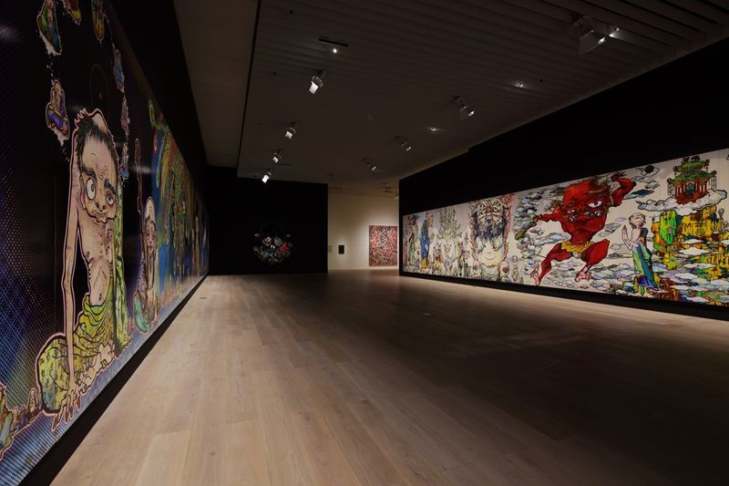 "Takashi_Murakami_View of the exhibition ""The 500 Arhats"" curated by AKIKO MIKI  at Mori Art Museum  Tokyo (Japan), 2015_10098_1"