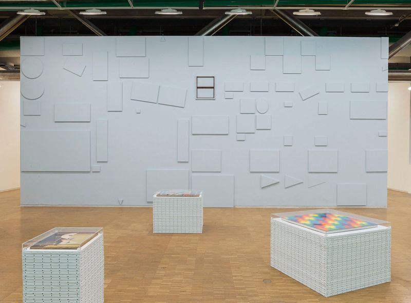 """Claude_Rutault_View of the exhibition """"d'où je viens où j'en suis où je vais"""" curated by Michel Gauthier  at Centre Georges Pompidou  Paris (France), 2015_10265_1"""