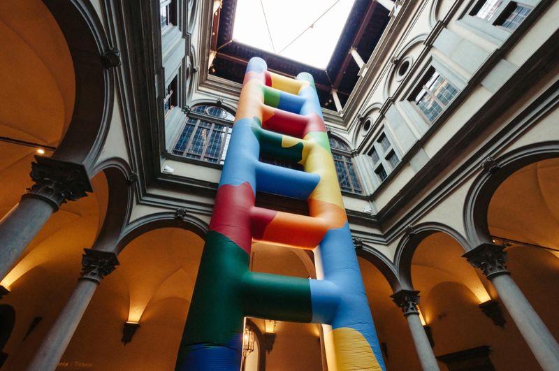 View of the exhibition Installazione per il cortile at Palazzo Strozzi  Florence (Italy), 2015