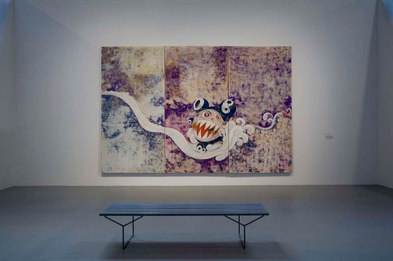 """727"", 1996 / Acrylic on canvas mounted on board / 300 x 450 x 7 cm / 9.80 feet x 14.9 feet x 2 3/4 inches / Unique"