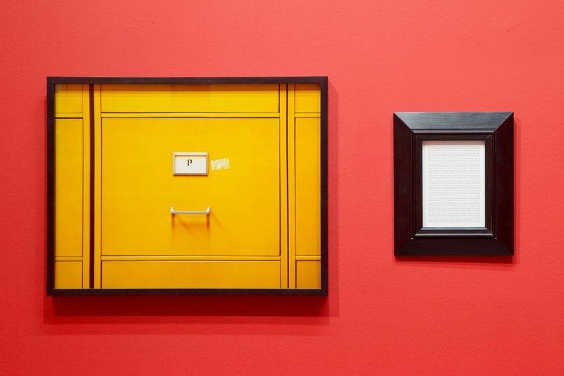 """Sophie CALLE """"Purloined : Lucian Freud, Francis Bacon's Portrait"""" 1998-2013 Colour photograph, text, frames43 x 58 cm (photo) 30 x 25 cm (text) 15 x 20 cm (introduction text)"""