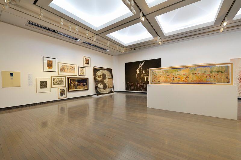 "yuji_ueda_View of the group exhibition ""Takashi Murakami's Superflat collection, from Soga Shohaku and Kitaoji Rosanjin to Anselm Kiefer"" at Yokohama Museum of Art Yokohama (Japan), 2016_10758_1"