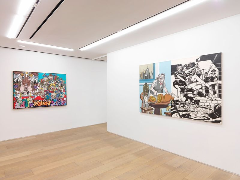 """Erro_View of the exhibition """"Erró - Paintings from 1959 to 2016"""" at 909 Madison Avenue  New York (USA), 2016_10857_1"""