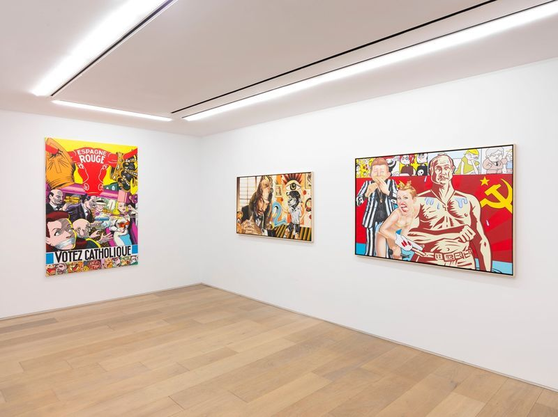 """Erro_View of the exhibition """"Erró - Paintings from 1959 to 2016"""" at 909 Madison Avenue  New York (USA), 2016_10858_1"""