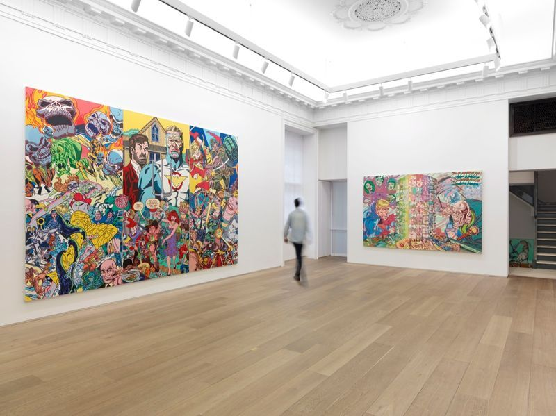"""Erro_View of the exhibition """"Erró - Paintings from 1959 to 2016"""" at 909 Madison Avenue  New York (USA), 2016_10862_1"""