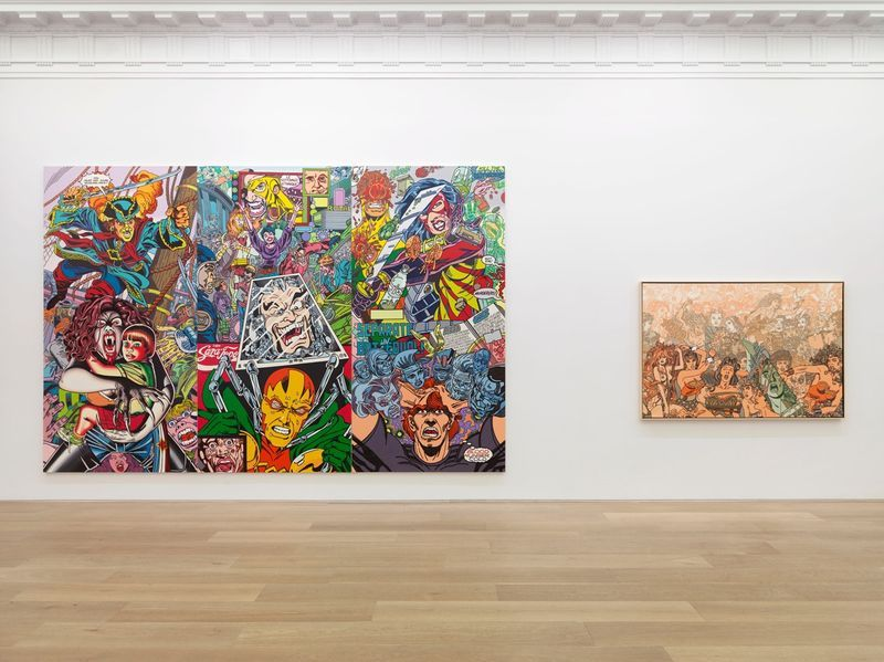 """Erro_View of the exhibition """"Erró - Paintings from 1959 to 2016"""" at 909 Madison Avenue  New York (USA), 2016_10864_1"""