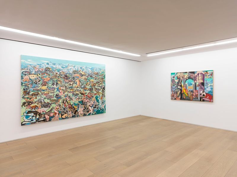 """Erro_View of the exhibition """"Erró - Paintings from 1959 to 2016"""" at 909 Madison Avenue  New York (USA), 2016_10866_1"""