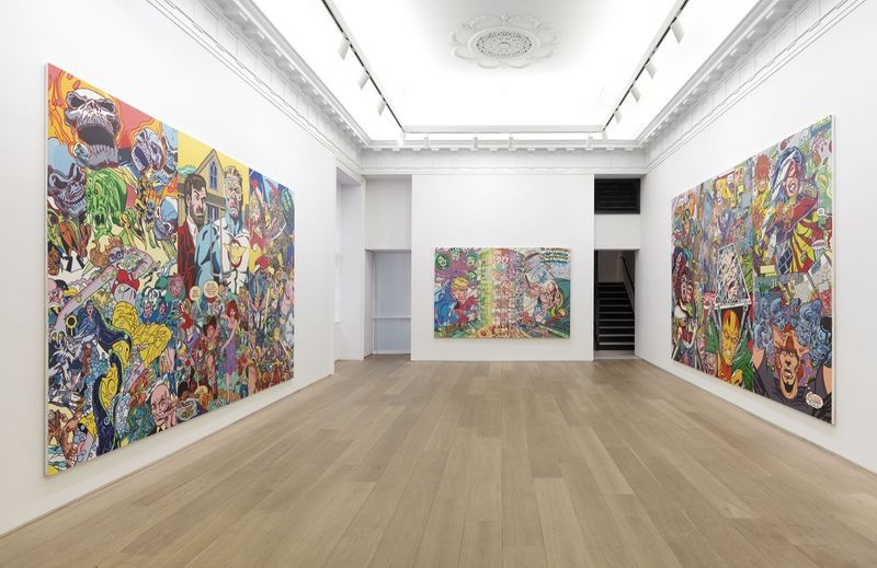"""Erro_View of the exhibition """"Erró - Paintings from 1959 to 2016"""" at 909 Madison Avenue  New York (USA), 2016_11002_1"""