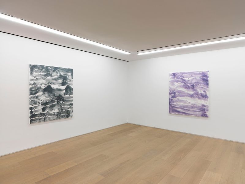 """Bernard_Frize_View of the exhibition """"Dawn comes up so young"""" at New York Gallery New York (USA), 2016_11293_1"""