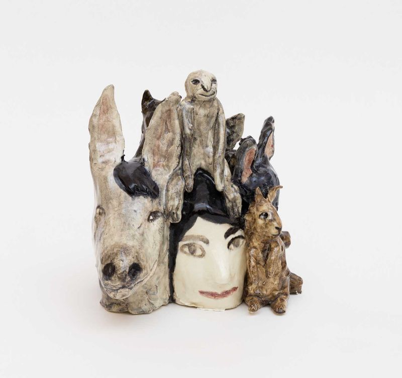 "Klara Kristalova, ""Company"", glazed stoneware, 2016"