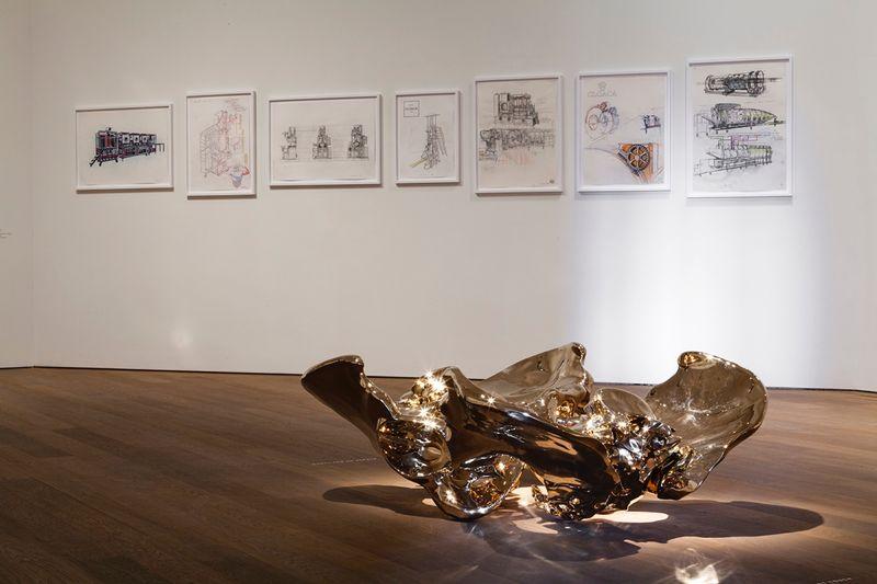 """""""Coccyx Double"""" 2012 / Bronze poli / Polished bronze54 x 140 x 107 cm / 21 1/4 x 55 1/8 x 42 1/8 inchesUnique"""