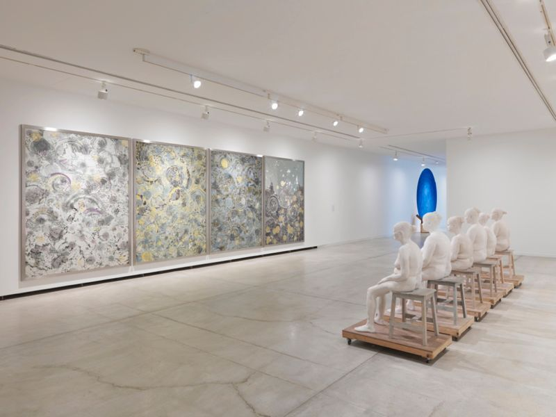 "Installation view of ""Bharti Kher: Matter"" at the Vancouver Art Gallery, 2016"