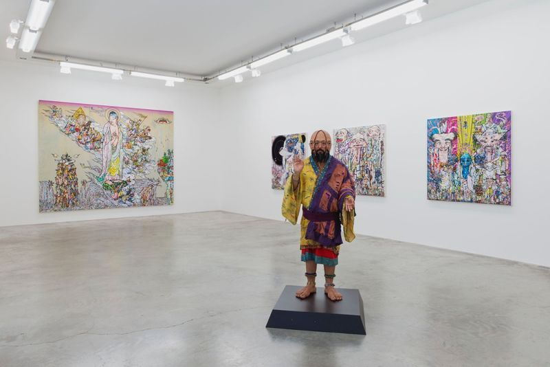 "Takashi_Murakami_View of the exhibition ""Learning the Magic of Painting"" at Perrotin (Turenne & St Claude)  Paris (France), 2016_12193_1"
