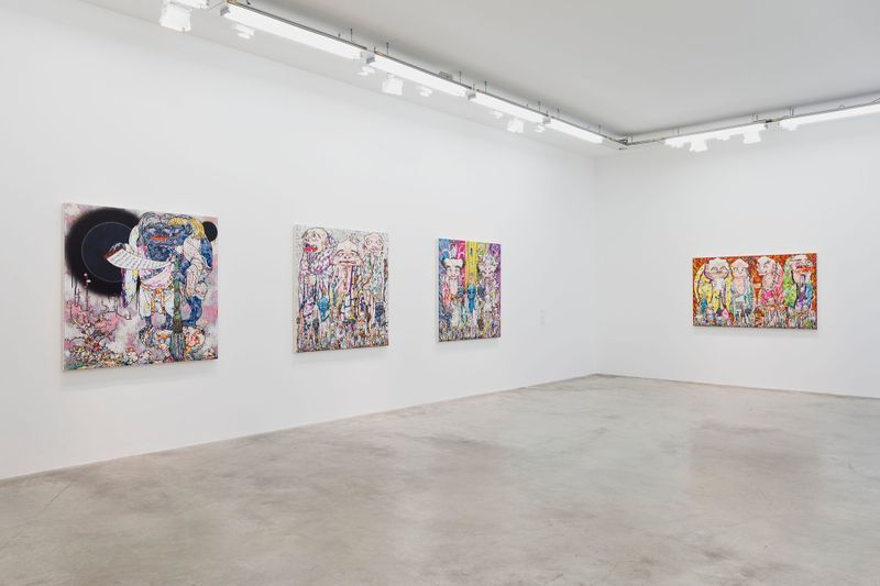 "Takashi_Murakami_View of the exhibition ""Learning the Magic of Painting"" at Perrotin (Turenne & St Claude) Paris (France), 2016_12195_1"