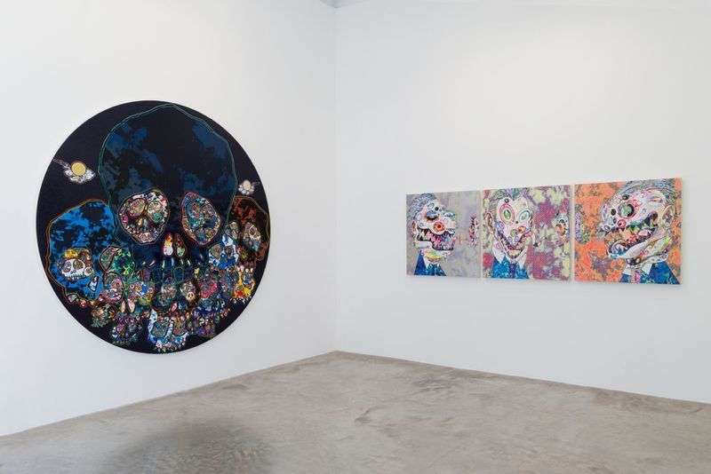 "Takashi_Murakami_View of the exhibition ""Learning the Magic of Painting"" at Perrotin (Turenne & St Claude) Paris (France), 2016_12201_1"