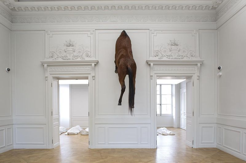 "Maurizio_Cattelan_View of the exhibition ""NOT AFRAID OF LOVE"" curated by Chiara Parisi  at La Monnaie  Paris (France), 2016_12389_1"