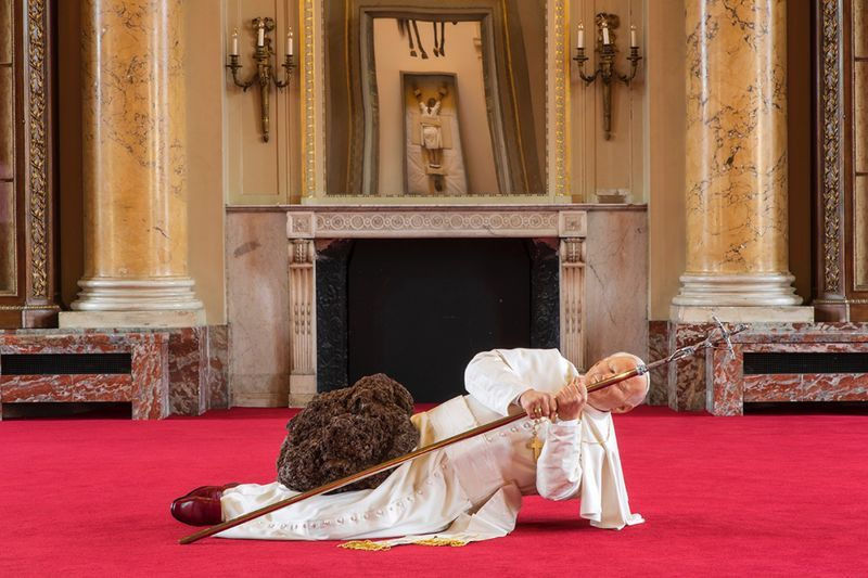 "Maurizio_Cattelan_View of the exhibition ""NOT AFRAID OF LOVE"" curated by Chiara Parisi  at La Monnaie  Paris (France), 2016_12506_1"