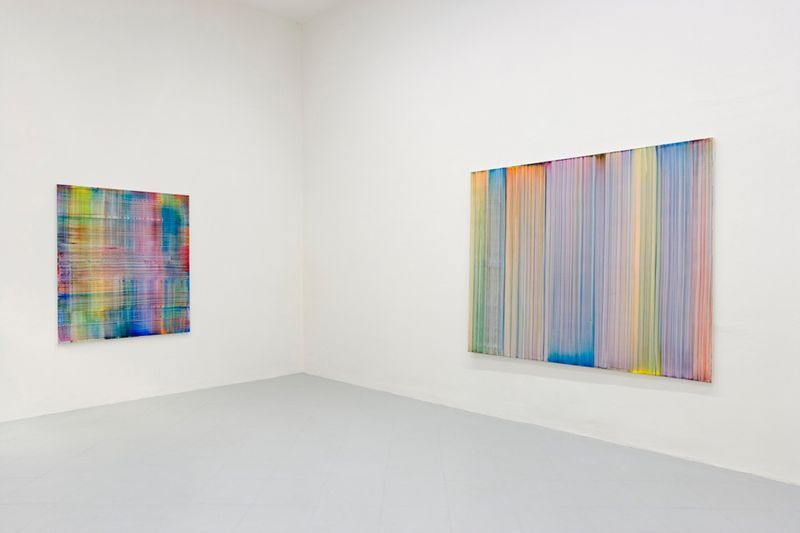 """Bernard_Frize_View of the exhibition """"Bernard Frize. Northern Lights, Waterfalls and Oceans."""" at Galleria Gentili Florence (Italy), 2017_12722_1"""