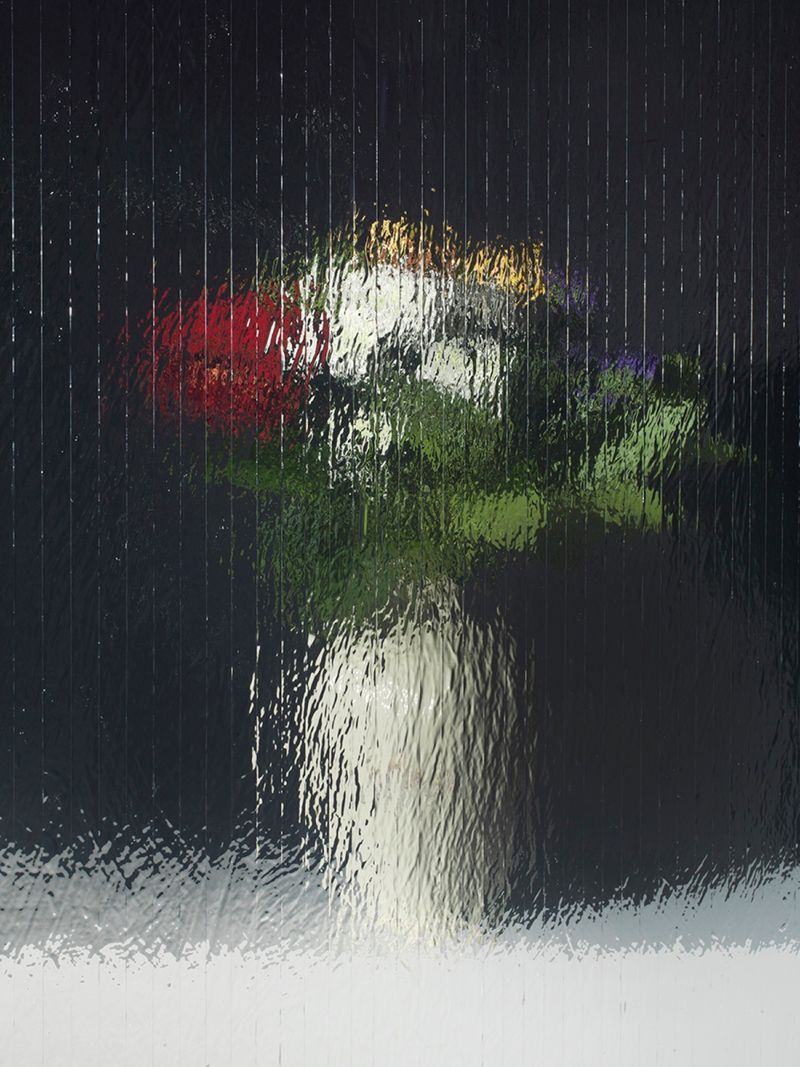 "Gregor HILDEBRANDT""gedrehte Becki Blumen"" / ""Rotated flowers from Becki"", 2017Impression digitale sur aluminium / Digital pigment print on aluminium66 x 49.5 cm / 26 x 19 1/2 inUnique"
