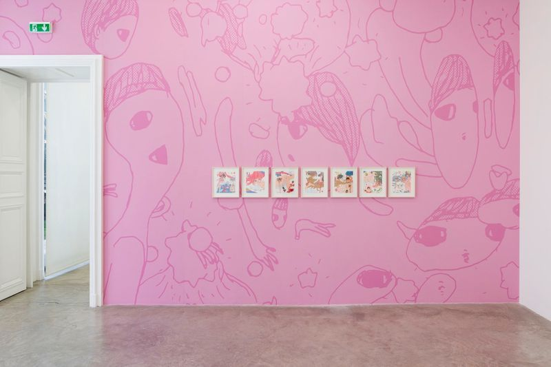 "Aya_Takano_View of the exhibition ""The Jelly Civilization Chronicle "" at Lower floor, 76 rue de Turenne  Paris (France), 2017_12876_1"
