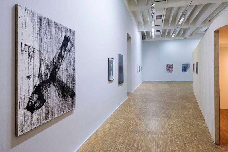 "Gregor_Hildebrandt_View of the group exhibition ""A Painter's Doubt: Painting & Phenomenology"" at Salzburger Kunstverein Salzburg (Austria), 2017_12884_1"