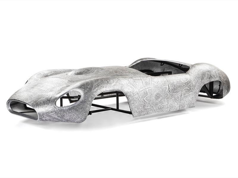 """""""Maserati"""" , 2012 / Aluminium repoussé / Embossed aluminium80 x 450 x 180 cm / 31 1/2 x 177 3/16 x 70 7/8 inUnique"""