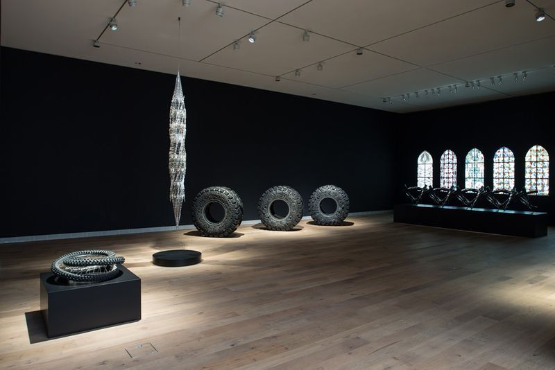 """Wim_Delvoye_View of the exhibition """"Wim Delvoye"""" at Musée Tinguely  Basel (Switzerland), 2017_14036"""