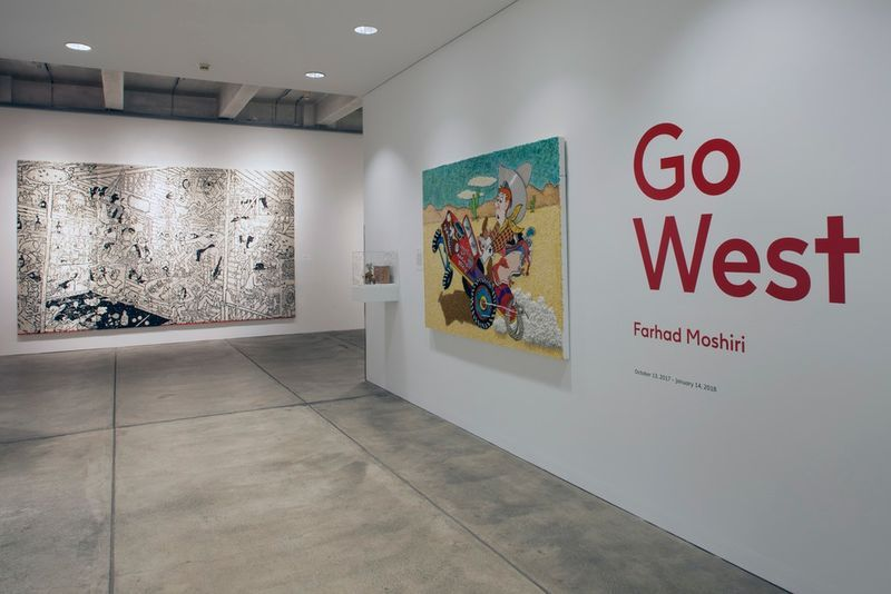 """Farhad_Moshiri_View of the exhibition """"Go West"""" curated by Jose Diaz  at The Andy Warhol Museum Pittsburgh (USA), 2017_14179"""