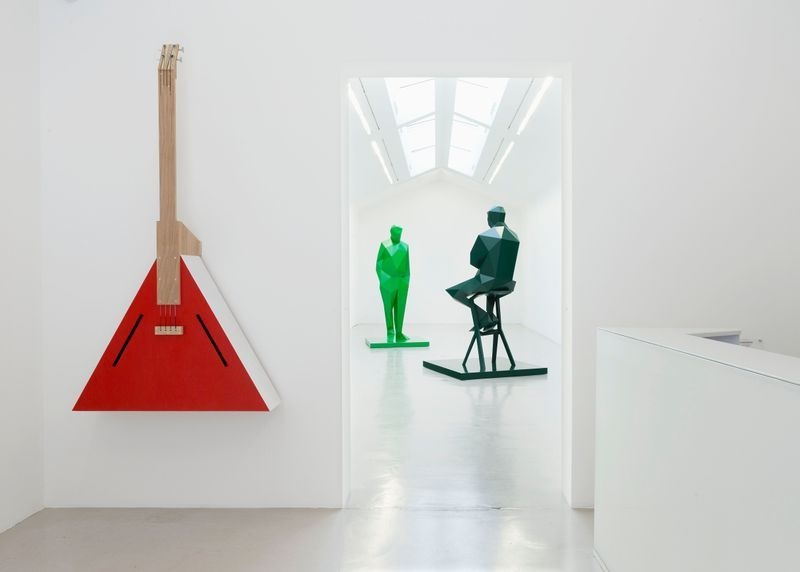 "View of Xavier Veilhan's solo exhibition ""Flying-V"" at Perrotin, Paris, France"