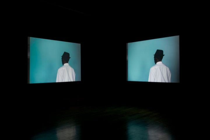 "Leslie Hewitt in collaboration with Bradford Young, ""Untitled (Structures),"" 2012, dual channel video installation, 35 mm film transferred to HD video, 00:16:47:00 loop"
