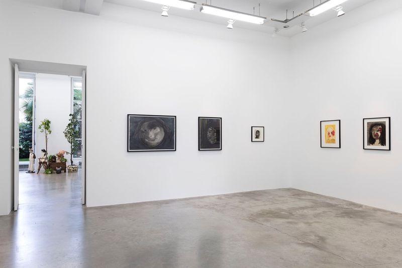 "Klara_Kristalova_View of the exhibition ""Camouflage"" at Perrotin  Paris (France), 2017_14291"