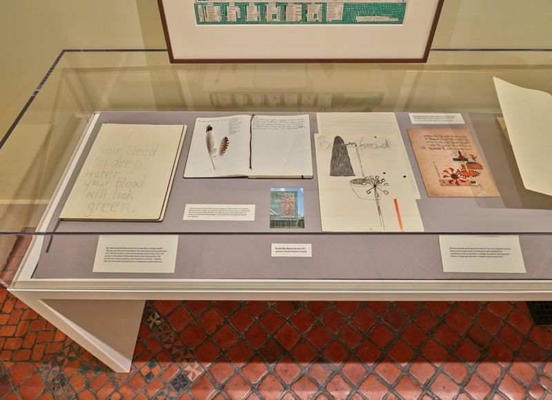 """Bharti_Kher_View of the exhibition """"Bharti Kher : Sketchbooks and Diaries"""" at Isabella Stewart Gardner Museum  BOSTON (USA), 2017_14348"""
