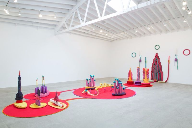 """Matthew_Ronay_View of the exhibition """"Organ / Organelle"""" at MARC FOXX  LOS ANGELES (USA), 2014_14471"""