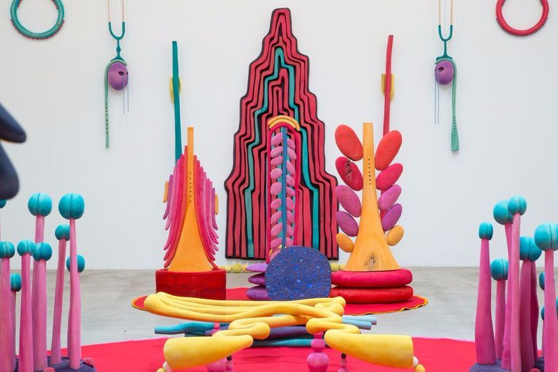 """Matthew_Ronay_View of the exhibition """"Organ / Organelle"""" at MARC FOXX  LOS ANGELES (USA), 2014_14472"""