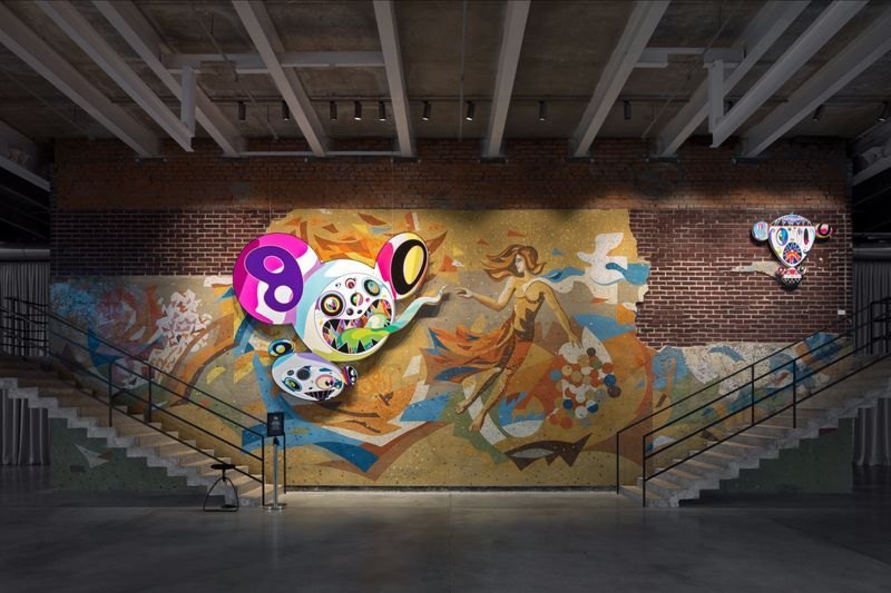 "Takashi_Murakami_View of the exhibition ""Under the radiation falls"" curated by Ekaterina Inozemtseva  at GARAGE MUSEUM OF CONTEMPORARY ART  Moscow (Russia), 2017_14482"
