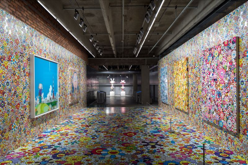 "Takashi_Murakami_View of the exhibition ""Under the radiation falls"" curated by Ekaterina Inozemtseva  at GARAGE MUSEUM OF CONTEMPORARY ART  Moscow (Russia), 2017_14491"