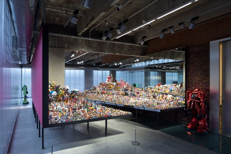 "Takashi_Murakami_View of the exhibition ""Under the radiation falls"" curated by Ekaterina Inozemtseva  at GARAGE MUSEUM OF CONTEMPORARY ART  Moscow (Russia), 2017_14493"