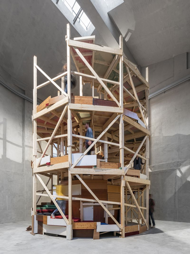 "Exhibition view of ""Slight Agitation 3/4: Gelitin"" Fondazione Prada, Milan"