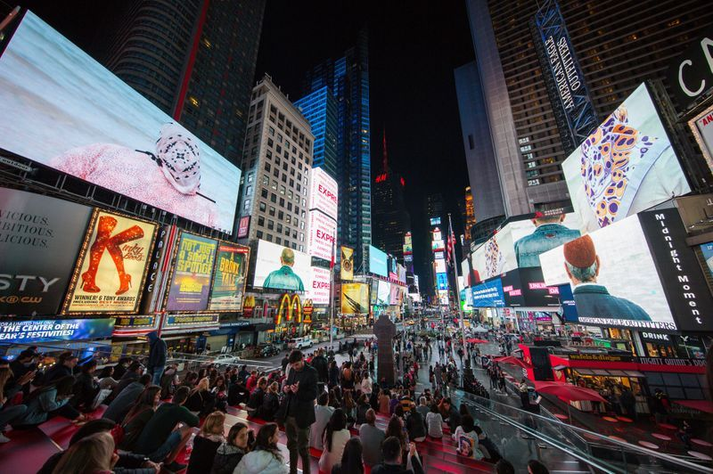 """""""Crossing the Line Festival - Sophie Calle: Voir la mer""""curated by French Institute Alliance Française (FIAF) at Times Square New York (USA)"""