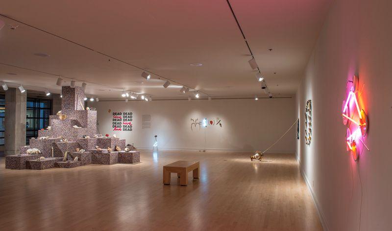 """Exhibition view of """"DEAD, DEAD, LIVE, DEAD"""" at the ASU Art Museum, Phoenix, AZ, 2017"""