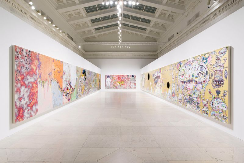 """Takashi_Murakami_View of the exhibition """"Takashi Murakami: The Deep End of the Universe"""" curated by Cathleen Chafee  at Albright-Knox Museum  Buffalo, 2017_14610"""