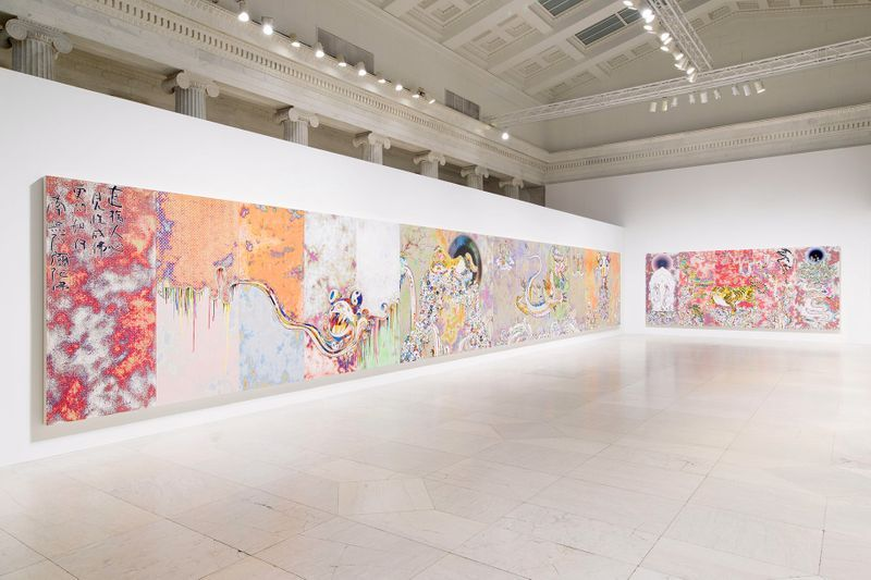 """Takashi_Murakami_View of the exhibition """"Takashi Murakami: The Deep End of the Universe"""" curated by Cathleen Chafee  at Albright-Knox Museum  Buffalo, 2017_14611"""
