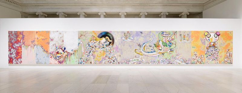 """Takashi_Murakami_View of the exhibition """"Takashi Murakami: The Deep End of the Universe"""" curated by Cathleen Chafee  at Albright-Knox Museum  Buffalo, 2017_14612"""