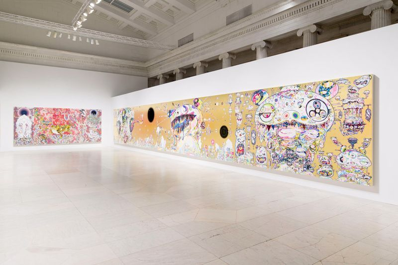 """Takashi_Murakami_View of the exhibition """"Takashi Murakami: The Deep End of the Universe"""" curated by Cathleen Chafee  at Albright-Knox Museum  Buffalo, 2017_14613"""