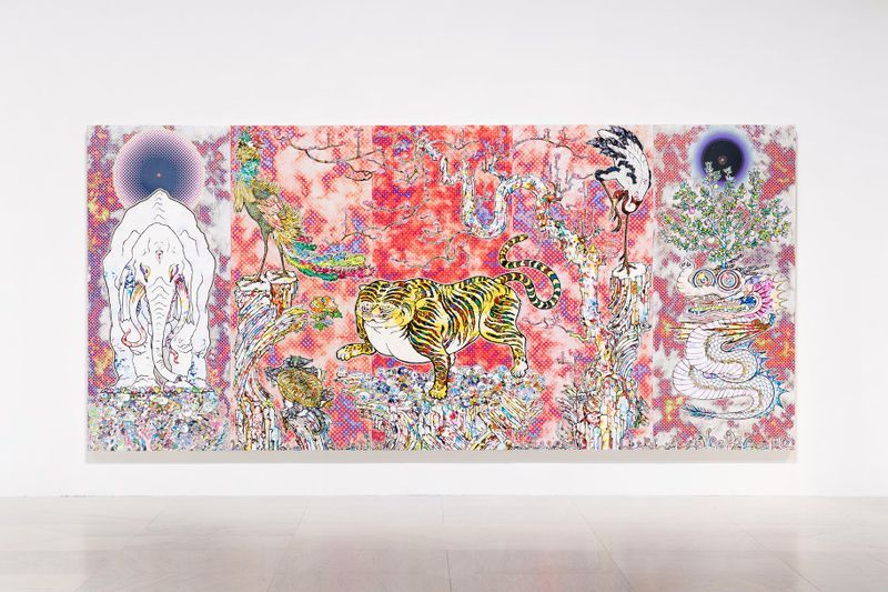 """Takashi_Murakami_View of the exhibition """"Takashi Murakami: The Deep End of the Universe"""" curated by Cathleen Chafee  at Albright-Knox Museum  Buffalo, 2017_14614"""