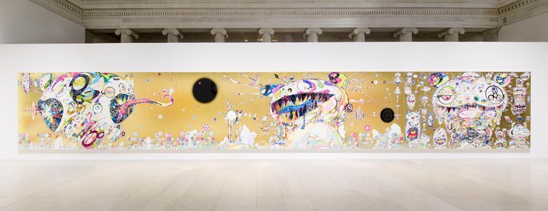 """Takashi_Murakami_View of the exhibition """"Takashi Murakami: The Deep End of the Universe"""" curated by Cathleen Chafee  at Albright-Knox Museum  Buffalo, 2017_14615"""