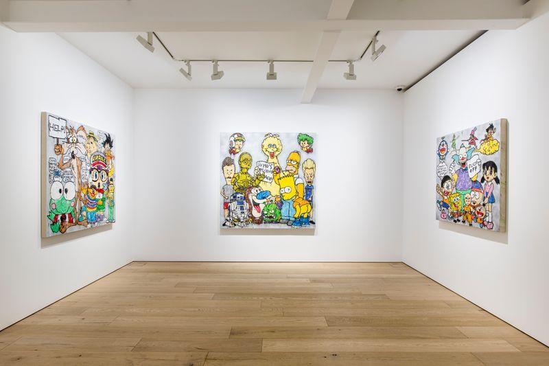 "View of the exhibition ""Bada Bing, Bada Boom"" at Perrotin Seoul, 2017© Hwang Woon Ha / Courtesy Perrotin"