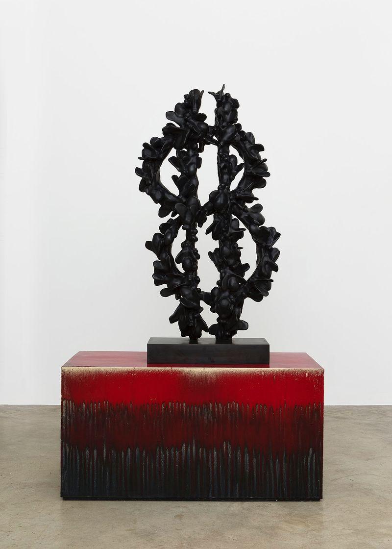 """Sign of the Times"", 2015Bronze patiné, fonte à la cire perdue / Patinated bronze, lost wax casting110 x 57 x 50 cm / 43 5/16 x 22 7/16 x 19 11/16 inUnique"