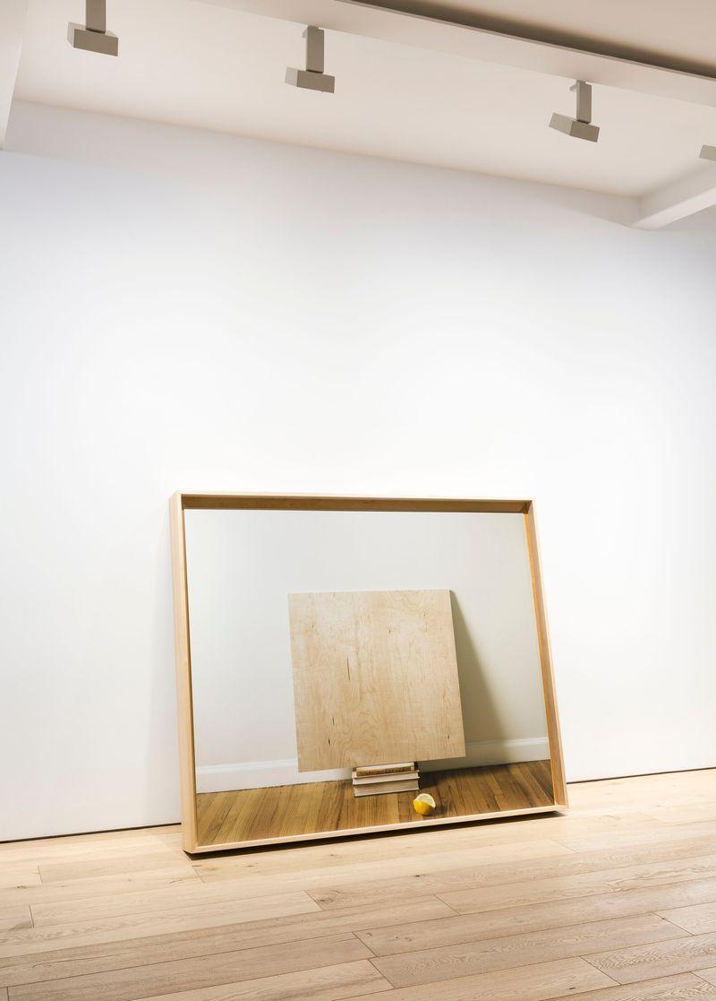 Leslie Hewitt, Untitled (Perception), 2013, digital chromogenic print in custom maple wood frame, 132.7 x 158.1 x 15.2 cm (52 1/4 x 62 1/4 x 6 inches)