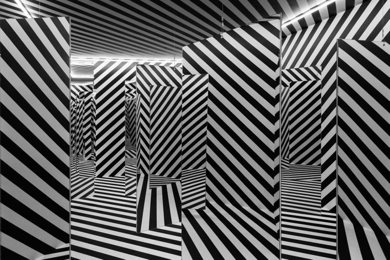 "Julio_Le_Parc_View of the group exhibition ""The Other Trans-Atlantic. Kinetic and Op Art in Eastern Europe and Latin America 1950s - 1970s"" at GARAGE MUSEUM OF CONTEMPORARY ART  Moscow (Russia), 2018_15013"